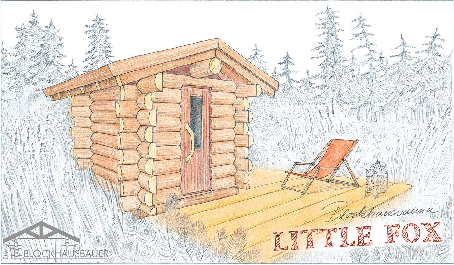 Gartensauna Little Fox Zeichnung
