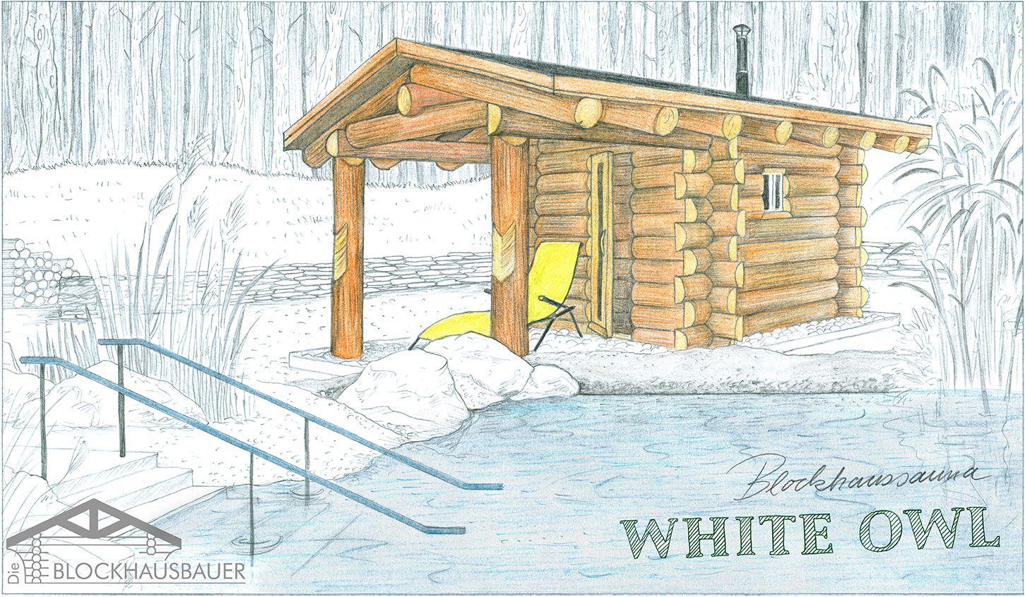 Gartensauna White Owl Zeichnung