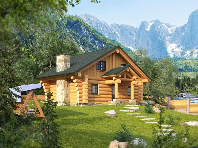 "Naturstammhaus ""Trout Creek Lodge"""