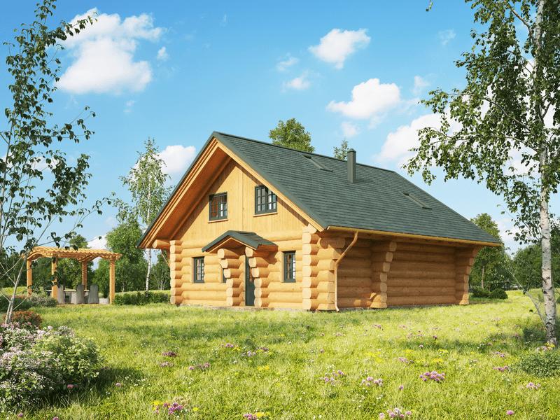 """Naturstammhaus """"Bridger"""""""