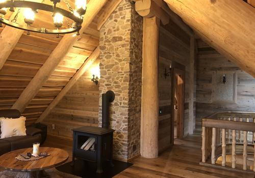 Naturstammhaus - Sparren in Rundstamm