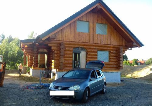 """Blockhaus """"Bear Creek Lodge"""" - Ansicht von vorn"""
