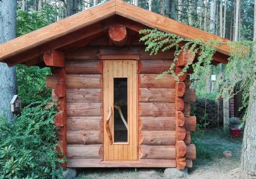 Die Blockhausbauer - Kleine 2x2m Blockhaussauna
