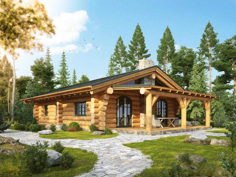 "Naturstammhaus ""Woodsman Cabin"""