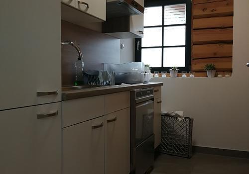 Küche in einem Post & Beam Blockhaus