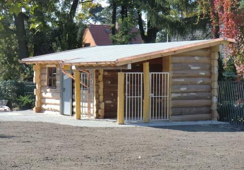 Die Blockhausbauer - Eine Kombination aus Halbstammgartenhaus und Hundezwinger