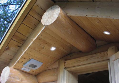 Blockhaus, Naturstamm, Rundholz, Kanadablockhaus, Sauna