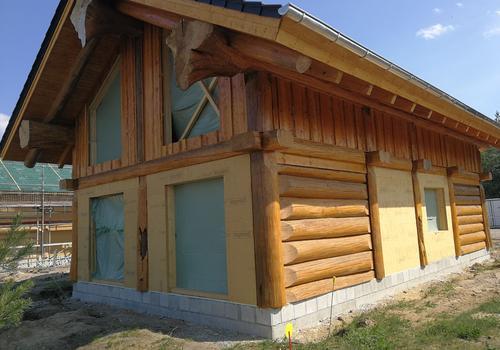"Post & Beam Blockhaus ""Blackfoot"" - Das Haus steht im Seeresort Gröbern"