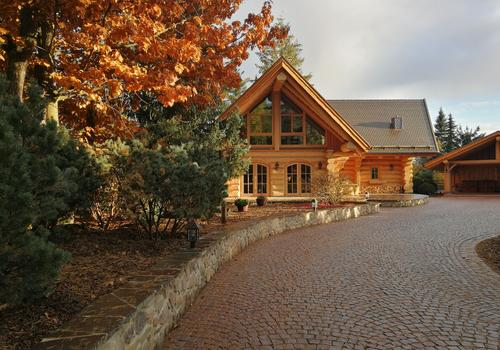 "Naturstammhaus ""Whitehorse Lodge"""