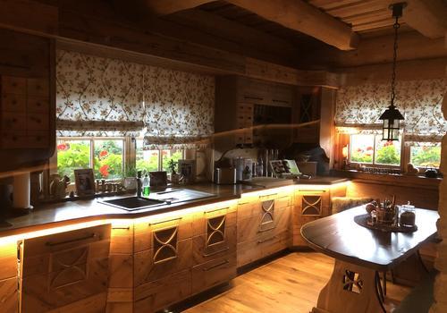 Naturstammhaus Küche