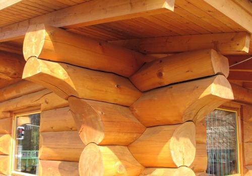 Blockhaus, Naturstamm, Kanadablockhaus, Blockhaus bauen, Eckverbindung