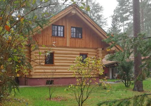 """Kanadisches Blockhaus """"Tucker"""" bauen mit Die Blockhausbauer in Sachsen"""