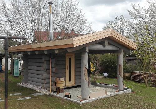 Blockhaussauna für den Garten kaufen Sie von | DIE BLOCKHAUSBAUER in Sachsen